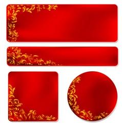 Elegant Filigree Banner Elements vector image