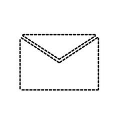 envelope sticker vector image