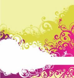 grunge floral flower background vector image vector image