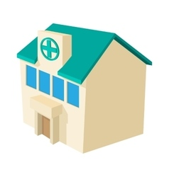 Hospital building icon cartoon style vector image