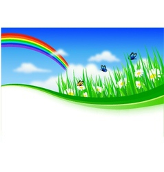 nature background with gras vector image vector image