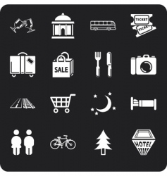 tourism and city icons vector image vector image