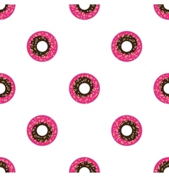 cartoon style donuts seamless pattern vector image vector image