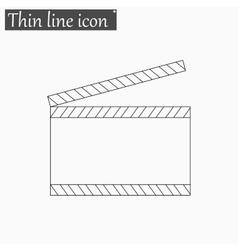 Film clapper board icon Style thin line vector image