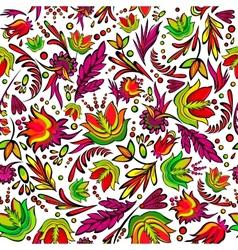 Seamless cartoon hand-drawn pattern vector image vector image