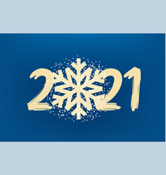2021 new year golden snowflake with confetti vector