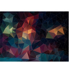 abstract color triangle background vector image