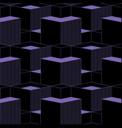 abstract cubes 3d seamless patternisometric style vector image