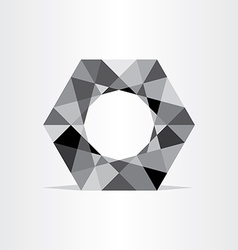 abstract polygon grayscale geometric background vector image