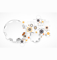 abstract technology background cogwheels theme vector image