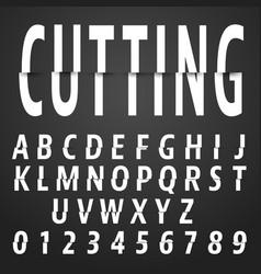 alphabet font cutting design vector image