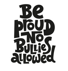 anti bullying lettering vector image