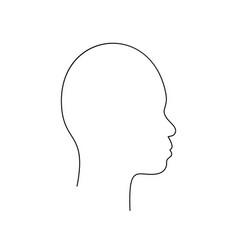 Asian non-binary head in profile with small snub vector
