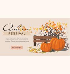 Autumn festival web banner vector
