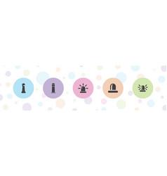 Beacon icons vector