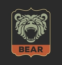 Bear logo vector image