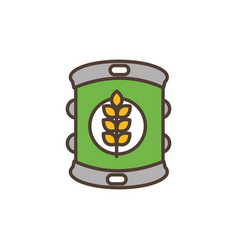 beer can oktoberfest icon line filled vector image
