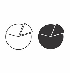 black and white pie charts vector image