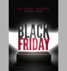 black friday mega sale poster template vector image
