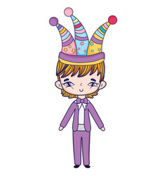 boy costume party vector image