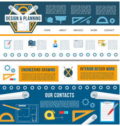 Building construction company web page template vector