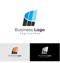 business logo consulting financial marketing vector image