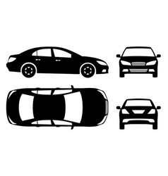 Car black icons vector