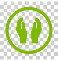 Care Hands Rounded Icon vector