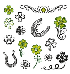 Clovers design elements vector