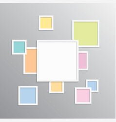 Collage one frame for photos or vector