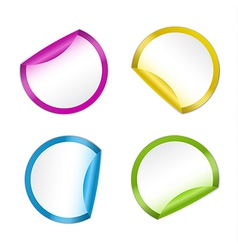 Colorful Stickers in Four Colors vector image