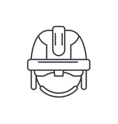construction mask line icon concept construction vector image