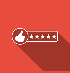 consumer or customer product rating icon isolated vector image