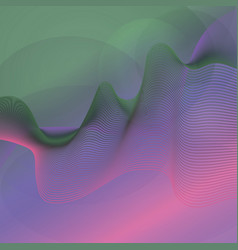 D line guilloche color wave vector