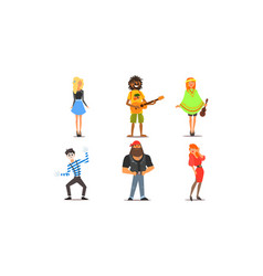 different people young and adult men and women vector image