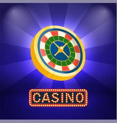 fortune symbol casino board business vector image