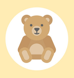 gift toy teddy bear icon baby cartoon character vector image