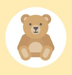 Gift toy teddy bear icon baby cartoon character vector