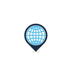 globe point logo icon design vector image