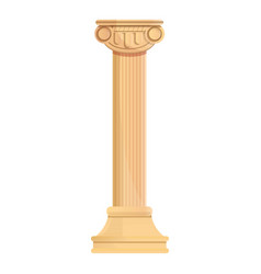 greek column icon cartoon style vector image