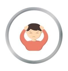 Headache icon cartoon Single sick icon from the vector image