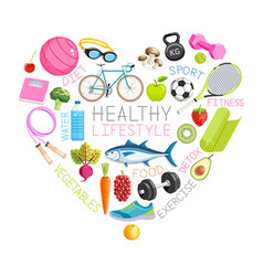 healthy lifestyle conceptual design vector image