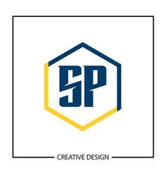 Initial letter sp logo template design vector