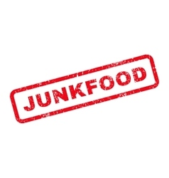 Junkfood Text Rubber Stamp vector image