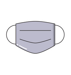 medical protective mask simple icon in trendy vector image