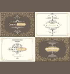 Monogram creative cards vector