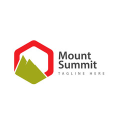 Mount summit logo template design vector