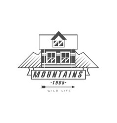 mountains logo design premium quality vintage vector image