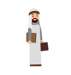 muslim man holding briefcase vector image