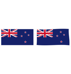 new zealand flag simple and slightly waving vector image